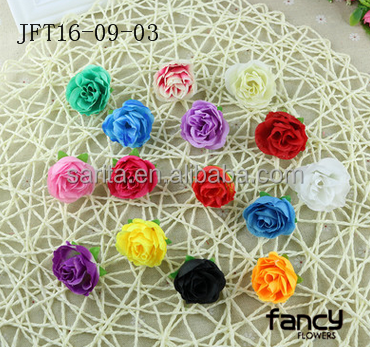 factory direct sale silk 4 cm rose bud flower heads