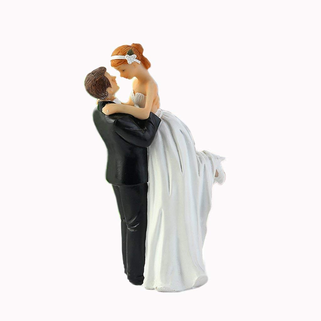 32f9637d2c3d Get Quotations · WeddingDepot Funny Bride and Groom Decorative Wedding Cake  Toppers - Cake Topper Figurines