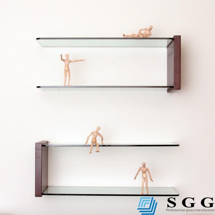 Grade a quality clear decorative glass wall corner shelves - Glass corner shelf for living room ...