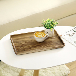 New design unique pu leather wooden serving shoes tray for hotel in Bamboo Material