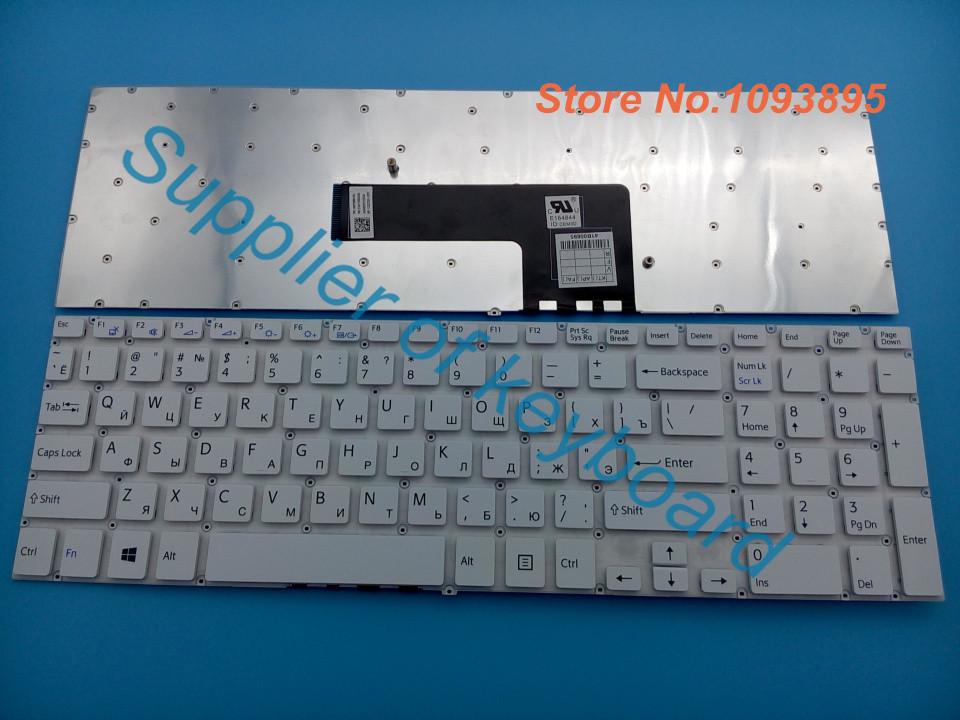 Оригинальный русский клавиатура для Sony VAIO SVF152C29V SVF1521Q1RW Fit 15 fit15 SVF15A SVF15E svf1521p1rw ноутбука-белый RU клавиатура