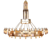 Mosque big gold chandelier islamic project hanging lamp
