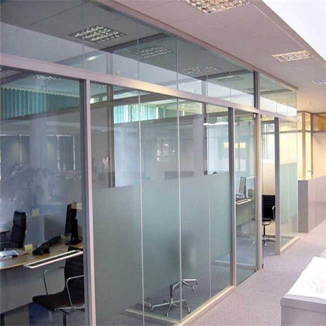 China Factory Tempered Movable Half Frosted Glass Walls