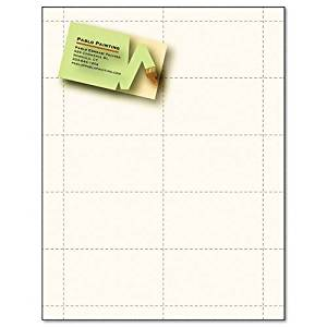 Blank White With Gold Foil Printable Business Cards Paper Card Stock