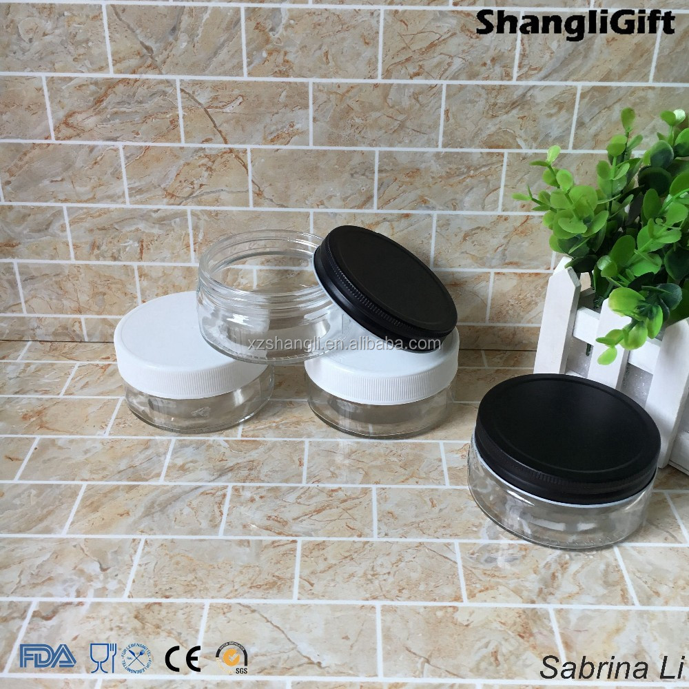 150ml flat cream glass jar with airtight lid