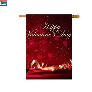 Customized Printing Flag Good Quality Design Garden Flag For Deco Valentine's Day