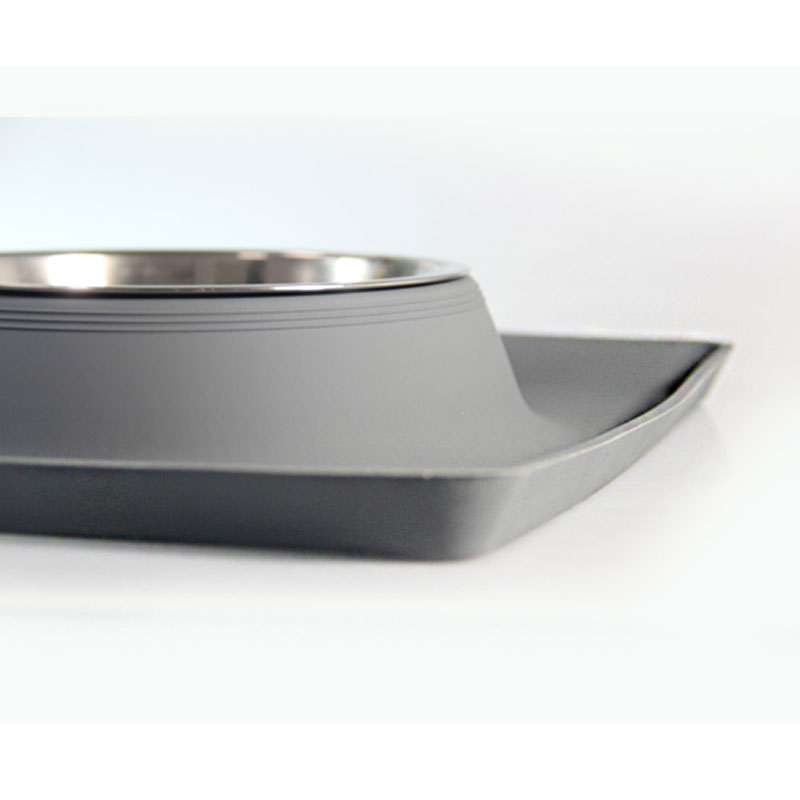 Pet Dog Bowls 2 Stainless Steel Dog Bowl with No Spill Non-Skid Silicone Mat + Pet Food Scoop Feeder Bowls for Feeding Dogs Cats