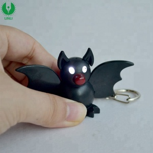 Mini Halloween Plastic Bat Toys Bat Keychain,Led Bat Light