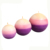 elegant and luxury triple colored scented sphere ball candle