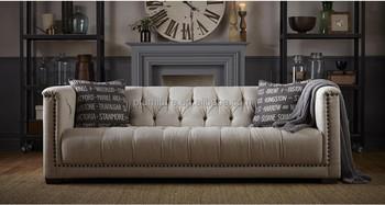 American Style Design Fabric Sofa Set 3 Seater 2 Single