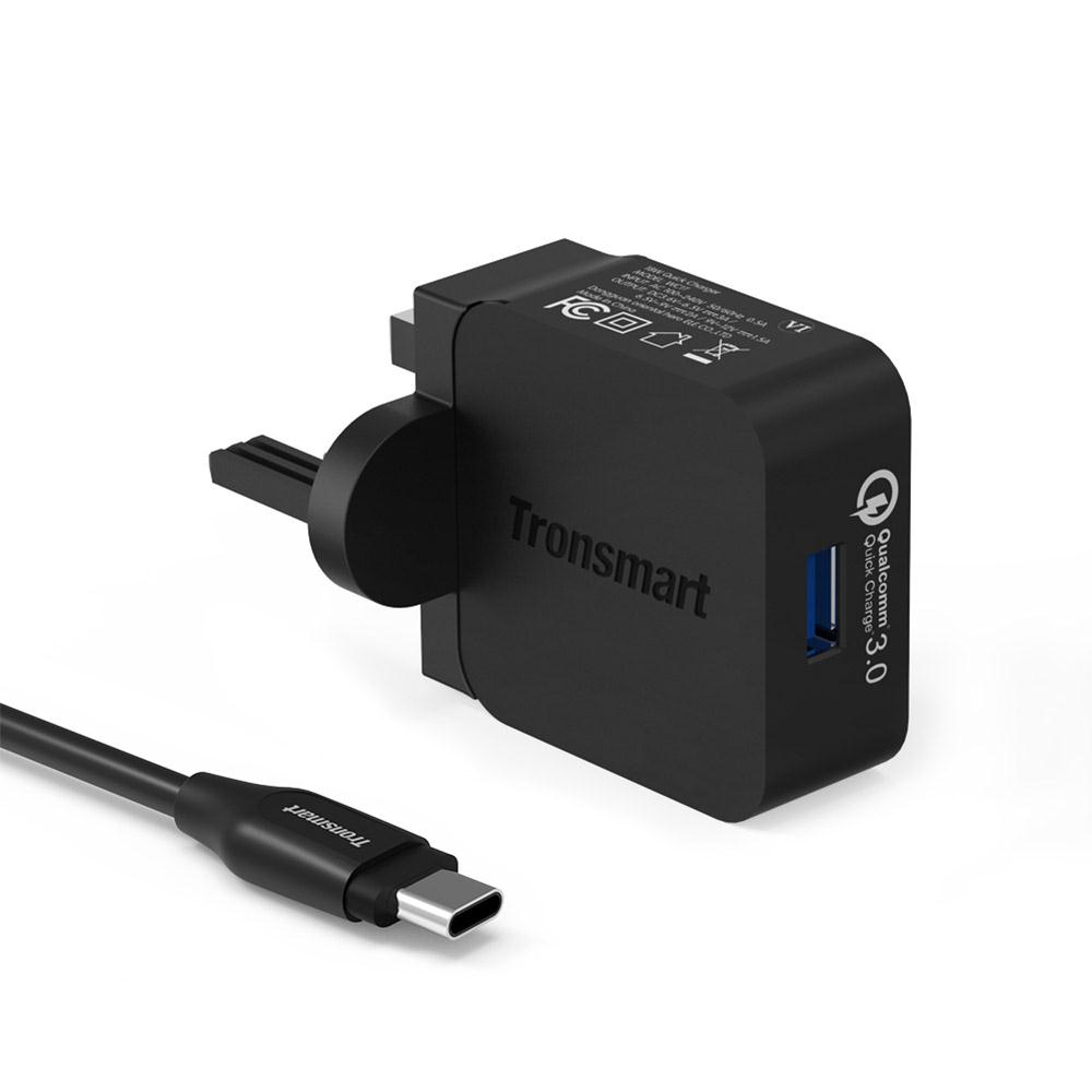 Qualcomm QC 3.0 Tronsmart WC1T 18W USB Turbo Wall Charger free shipping WC1T wall charger фото