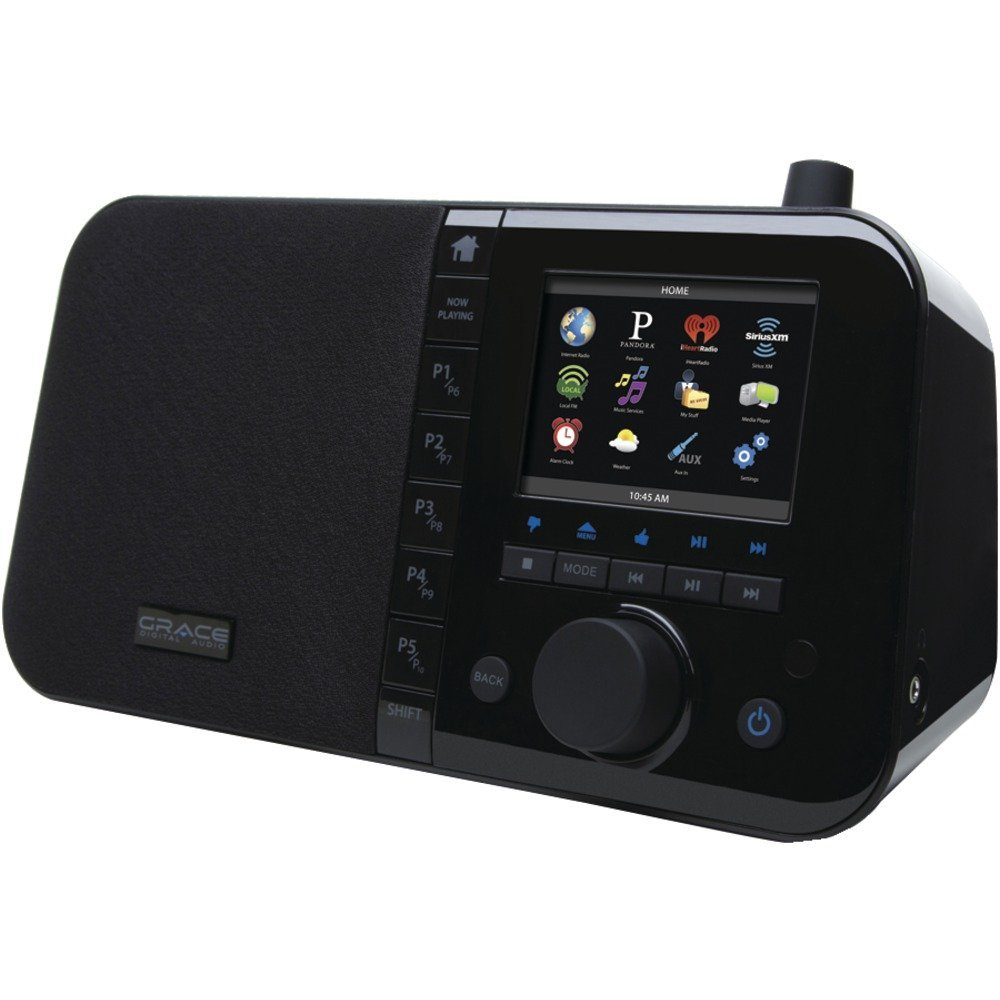 """1 - Wi-Fi Internet Radio with 3.5"""" TFT Color Screen, 3.5"""" TFT color display, Users can listen to more than 50,000 radio stations & on-demand content including Pandora(R), Live365.com & iHeart radio, GDI-IRC6000"""