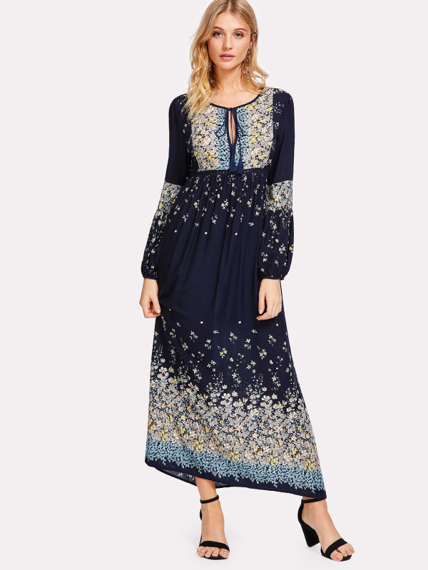 Mexican Embroidered Dresses Wholesale Women Long Dress Chiffon New Style