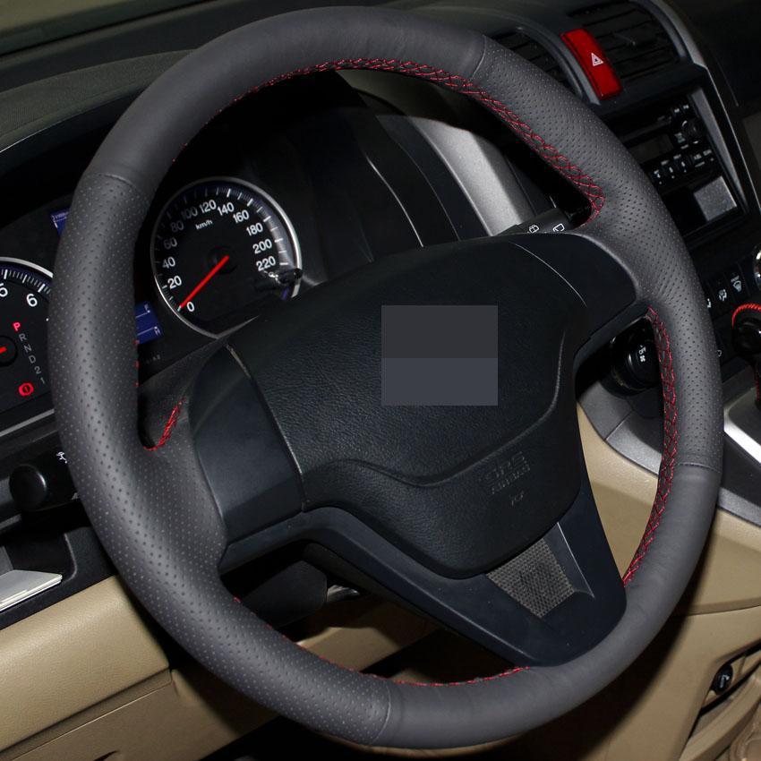steering wheel cover for honda crv 2007 2008 2009 2010 2011 cr v xuji car special hand stitched. Black Bedroom Furniture Sets. Home Design Ideas