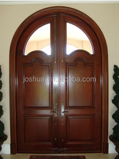 Arco caoba aliso frente decorativo exterior franc s doble for Arcos de madera para puertas