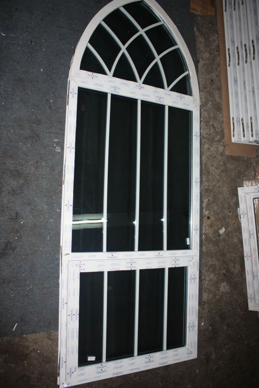 Upvc Window With Arch Fixed