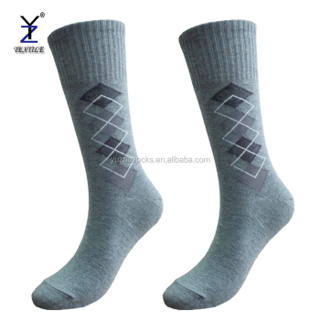 Mens free size argyle thick winter indoor dress linen socks