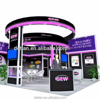 Exhibition Booth Materials : 3*3 & 6x6 exhibition booth temporary building booth materials