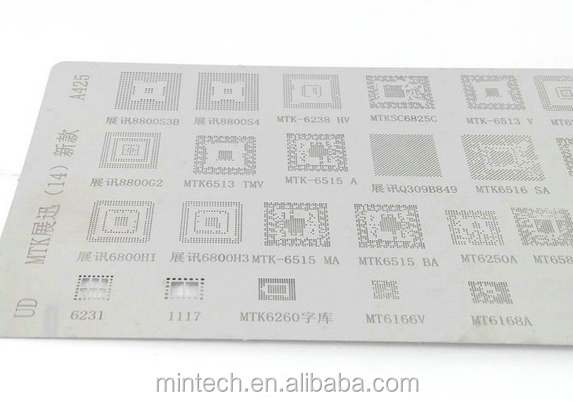 Replacement BGA Reballing Stencil for MTK MT6572A CPU SC6825C MT6582 MTK6166 A422 Reball Tool Stencils