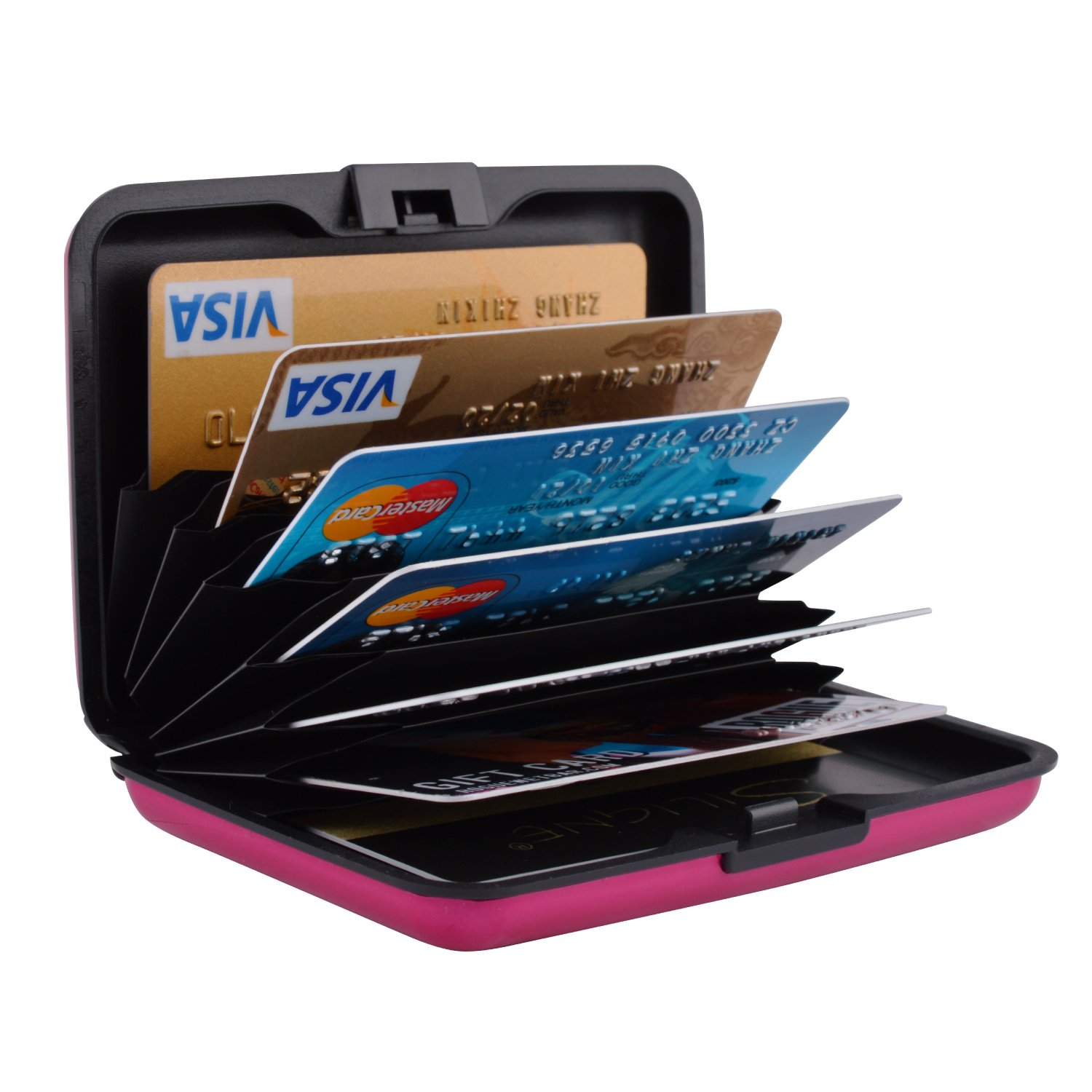 Stainless Steel Card Holder protector Case for Travel and Work LXJ STORE RFID Blocking Credit Card Holder Steel Metal Slim Wallet Metal ID Case Black Credit Card Case for Business Cards