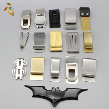 Manufacturer Supplier stainless steel custom enamel logo money clip with good quality