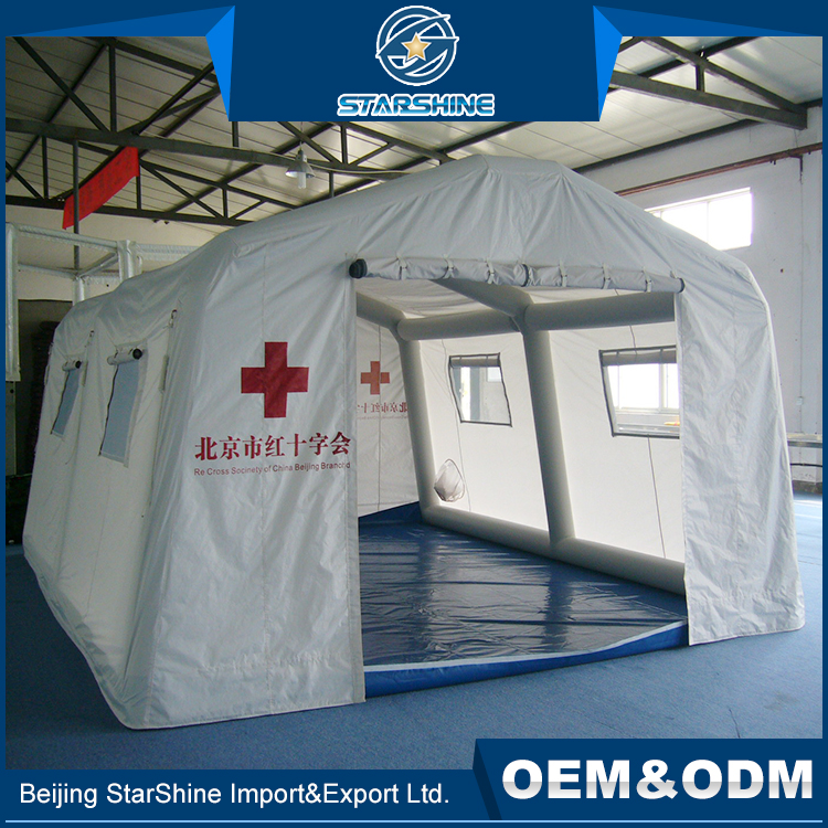 Most Popular Optional Space Color Military Tents Wind Resistance Inflatable Relief Disaster Tent
