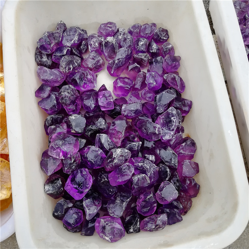 Wholesale natural  amethyst tumbled stone clastic stone crystal gravel