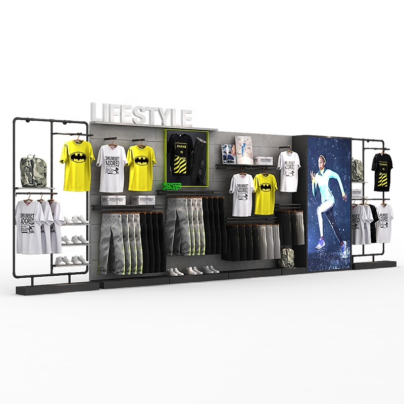 Latest design multi-purpose kids clothing merchandise stand store <strong>retail</strong> clothes shoes rack display