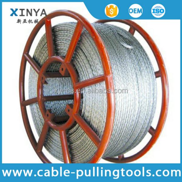 Anti twisted Braided Steel Wire Rope Six Squares Twelve Strands transmission Line Stringing