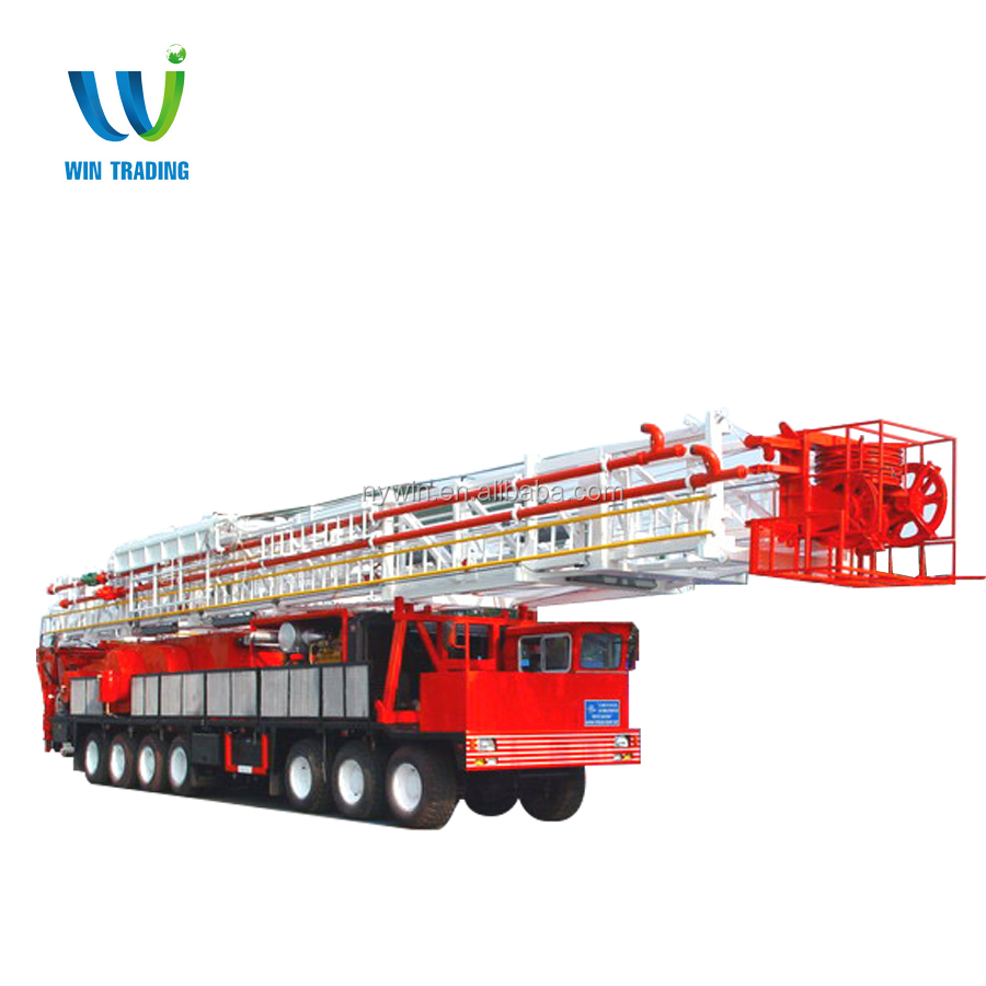 API Standard Oil Field Oil and Gas Well Bore Hole Truck Mounted Mobile 1000hp ZJ40 Drilling and Workover Rig