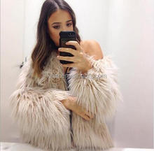 TNN-H-1 Supplier fashion Wild ladies fake fur coats