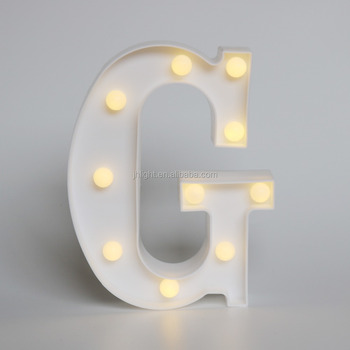 Delicore Plastic Marquee Led Lighted Letter G Sign Battery Operated White