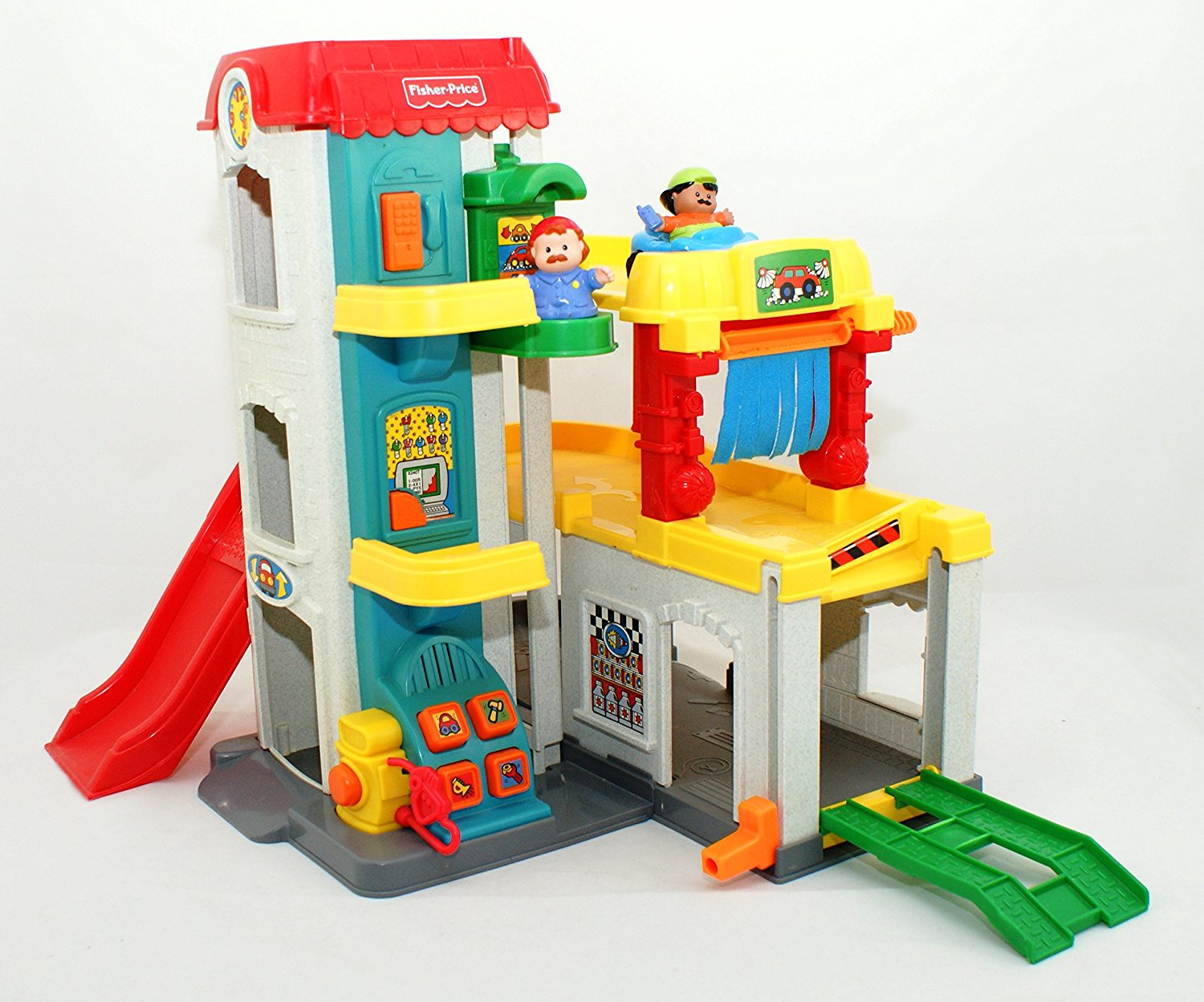 Garage Fisher Price : Buy fisher price little people zoom around garage tow truck and