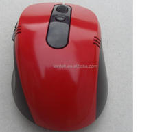 5D promotion product computer parts colourful 1000DPI tablet laptop use plastic red colour optical wireless computer mouse