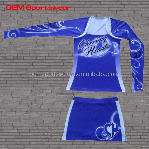 Cheer wear custom all star cheerleading uniform with rhinestones