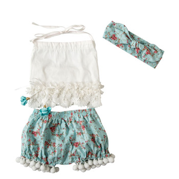 2018 Wholesale Summer Baby Girls Clothing Sets Kids Clothes Hot Sale Beach Style Children Clothing Set