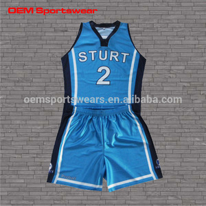 Free sample sublimated basketball team uniform design basketball jerseys and short