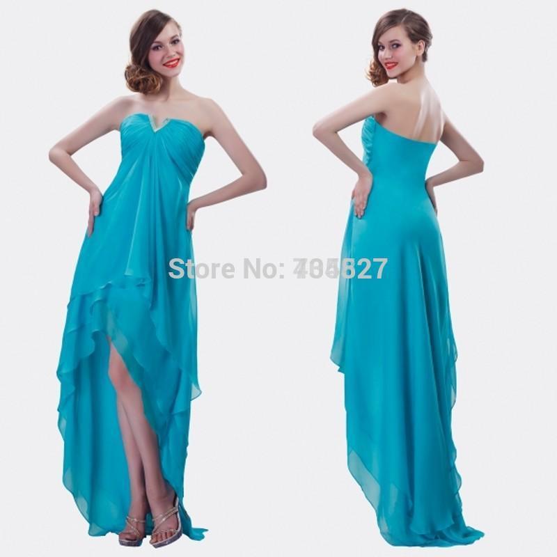0e968503aab Get Quotations · 2014 Light Blue Ruffle Bridesmaid Dresses Tiers Chiffon  vestido de festa Sweetheart Pleat 2015 Wedding Party