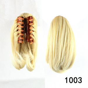 black woman hairpieces natural wavy fake hair synthetic claw clip ponytails