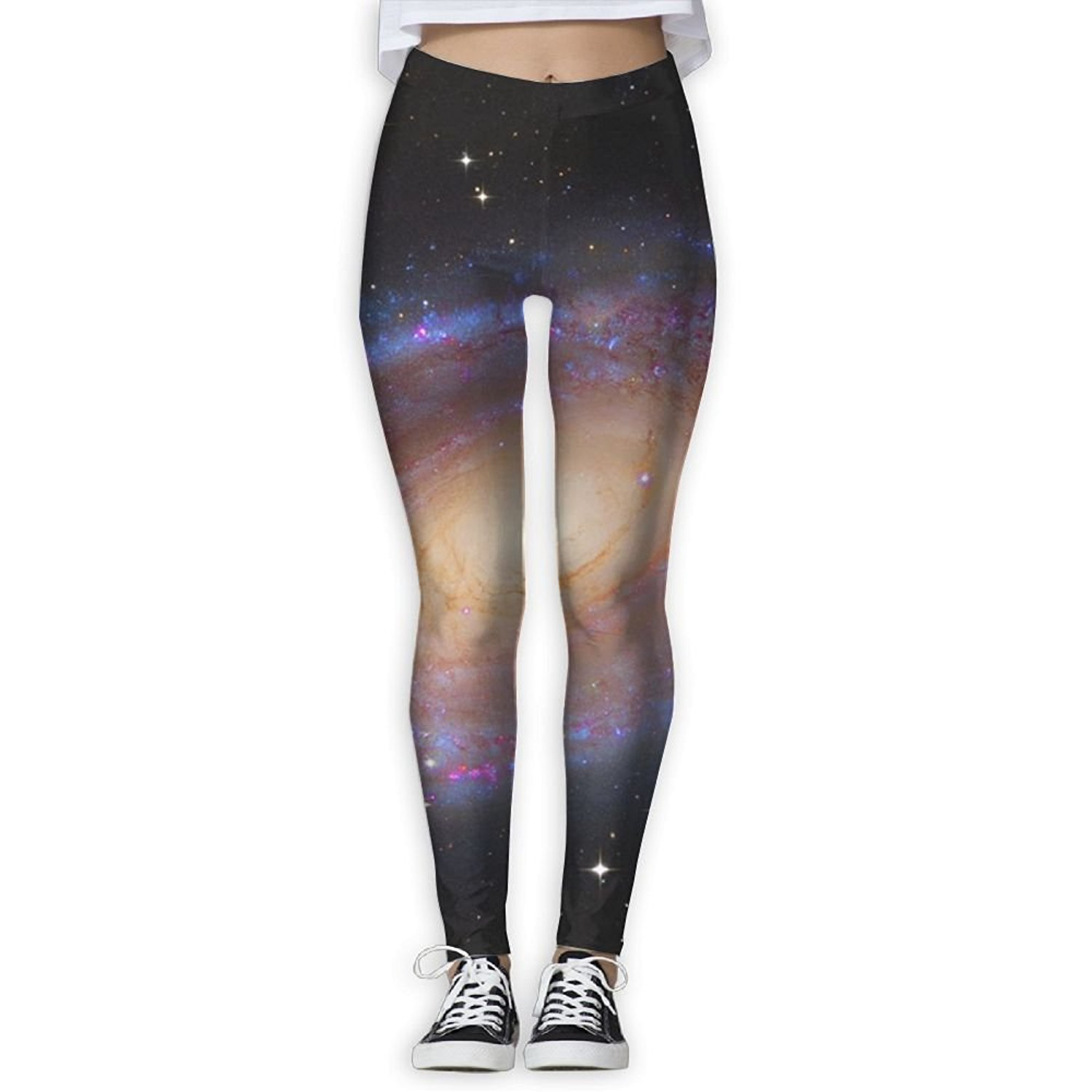 543f94d2f90ee Get Quotations · GHBDNK Galaxy Space Star Skins Yoga Pants for Women  Running Tights Women Leggings