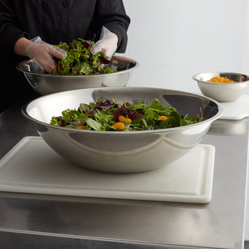 Various Size Standard Weight Stainless Steel salad Bowls for commercial kitchen