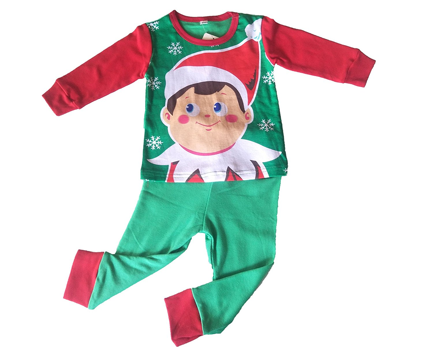 5186080bef Christmas Santa Claus Little Boys Girls  Pajamas Sets 100% Cotton Clothes  Toddler Kid Sleepwear