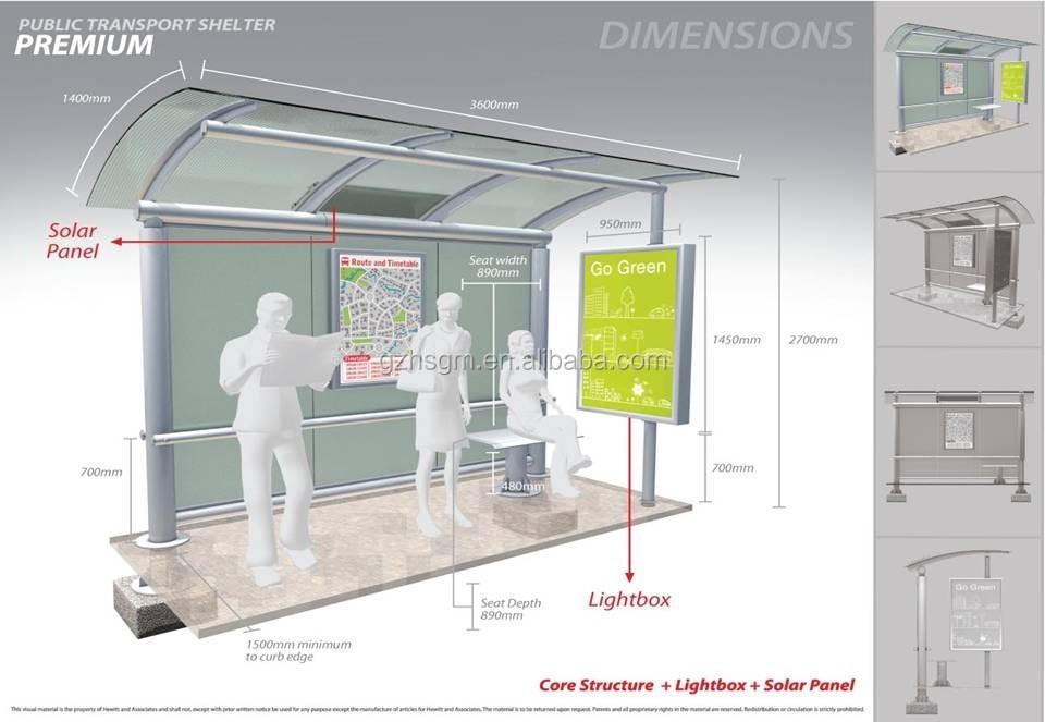 현대적인 스타일의 스테인레스 스틸 야외 경제 버스 정류장 역 ...