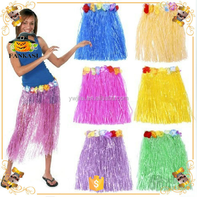 60cm grass hawaii skirt for hawaii party