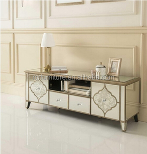 Venetian Frosted mirrored TV stand