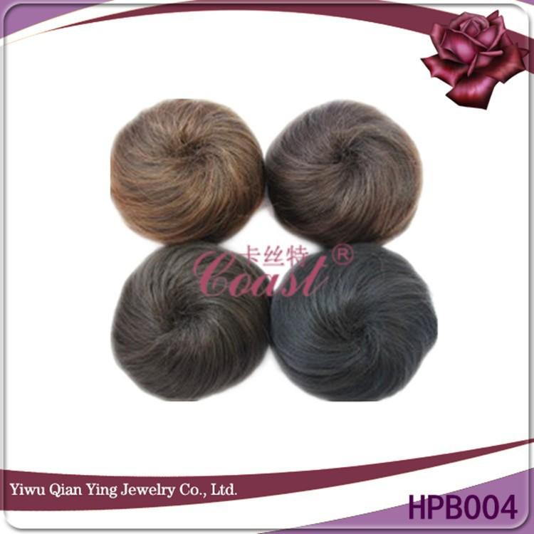 Fake fashion nature blonde synthetic wigs hair buns pieces
