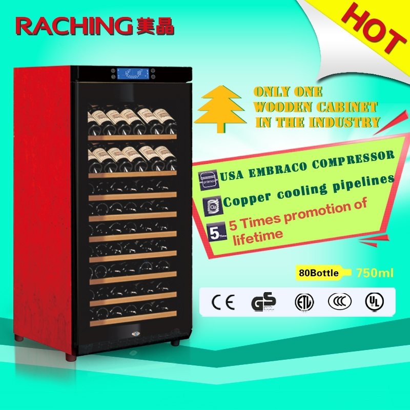 Europe Style Wine Cabinet Compressor Fan Cooling Cabinet
