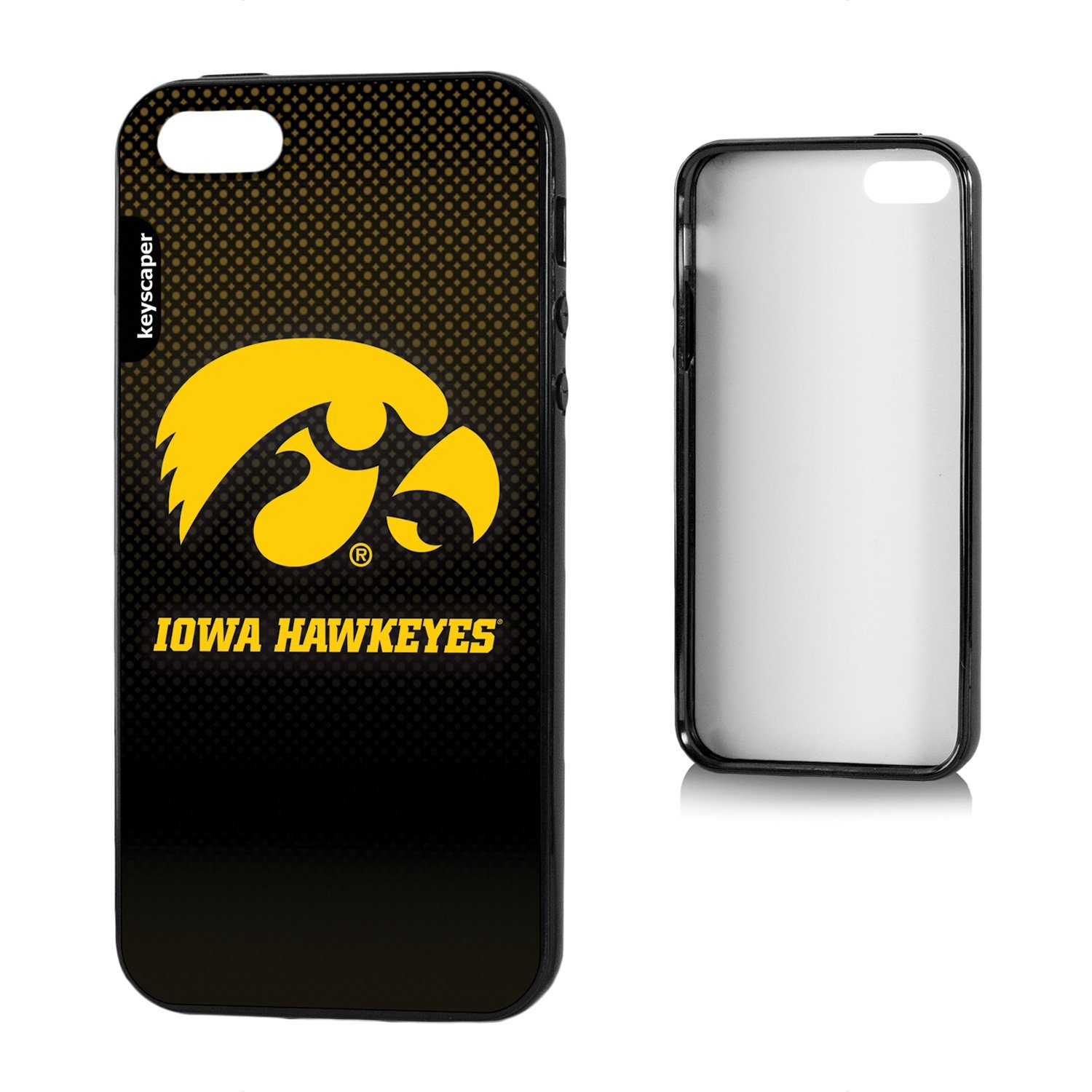 Iowa Hawkeyes iPhone 5 & iPhone 5s Bump Case officially licensed by the University of Iowa for the Apple iPhone 5/5S by keyscaper® Flexible Full Coverage Low Profile
