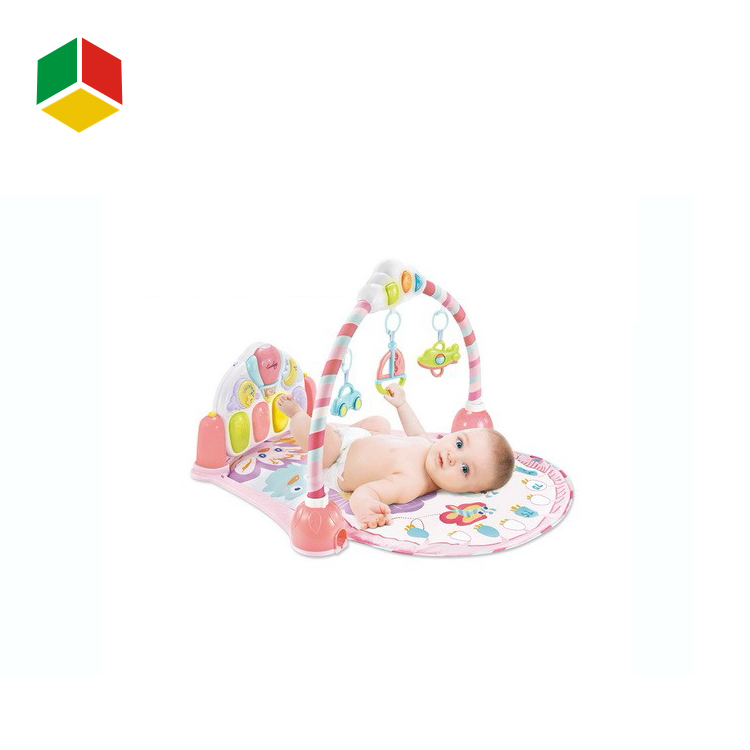 Baby Pay Gym Pink Color With Hanging Rattle Toy For Infant Activity