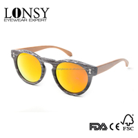 2017 fashion natural bamboo temple cat 3 uv400 sunglasses pc sun glasses brand your own(LS5008-C6)